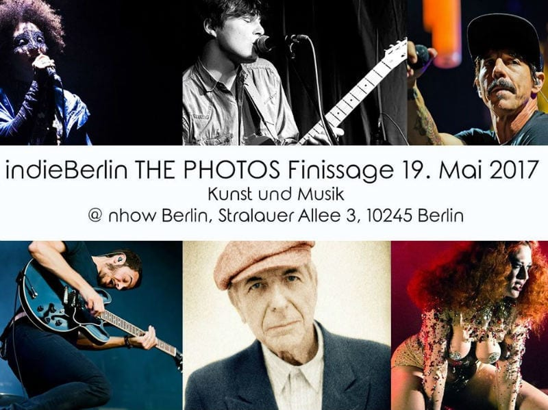 indieBerlin Finissage party announcement poster